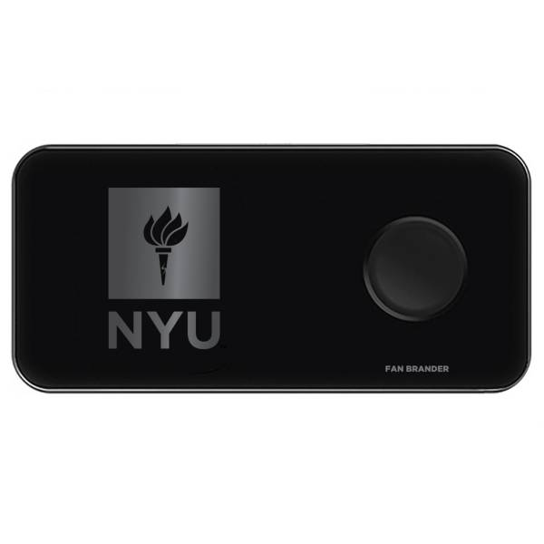 Fan Brander NYU Violets 3-in-1 Glass Wireless Charging Pad product image