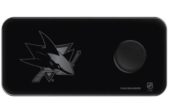 Fan Brander San Jose Sharks 3-In-1 Glass Charging Pad product image