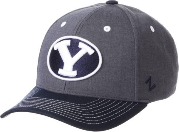 Zephyr Men's BYU Cougars Grey Cedar Adjustable Hat product image