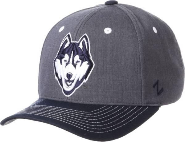 Zephyr Men's UConn Huskies Grey Cedar Adjustable Hat product image