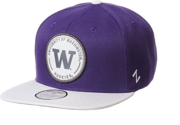 Zephyr Men's Washington Huskies Purple Snapback Adjustable Hat product image