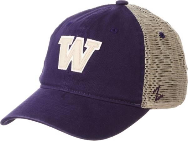 Zephyr Men's Washington Huskies Purple Hawthorne Adjustable Trucker Hat product image