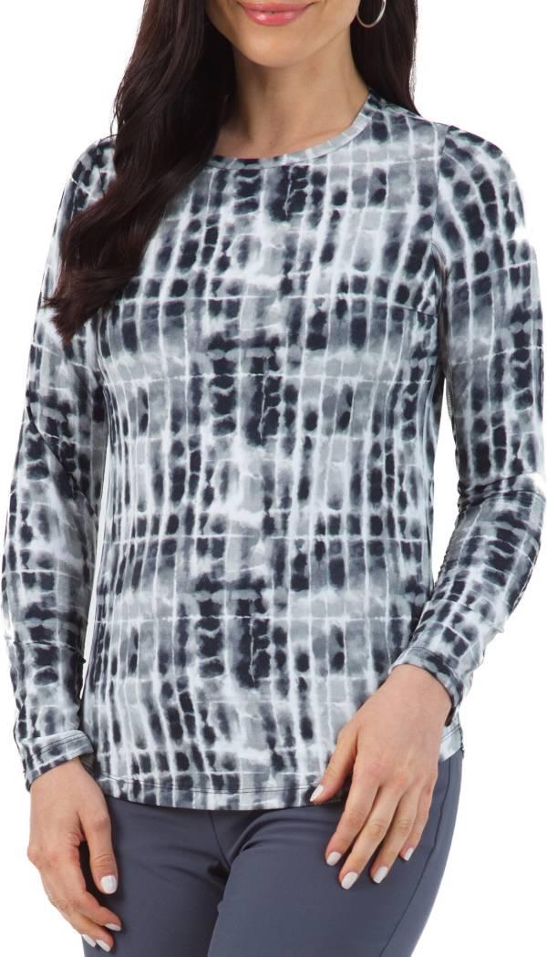 IBKUL Women's Rue Printed Long Sleeve Crewneck Sun Golf Shirt product image