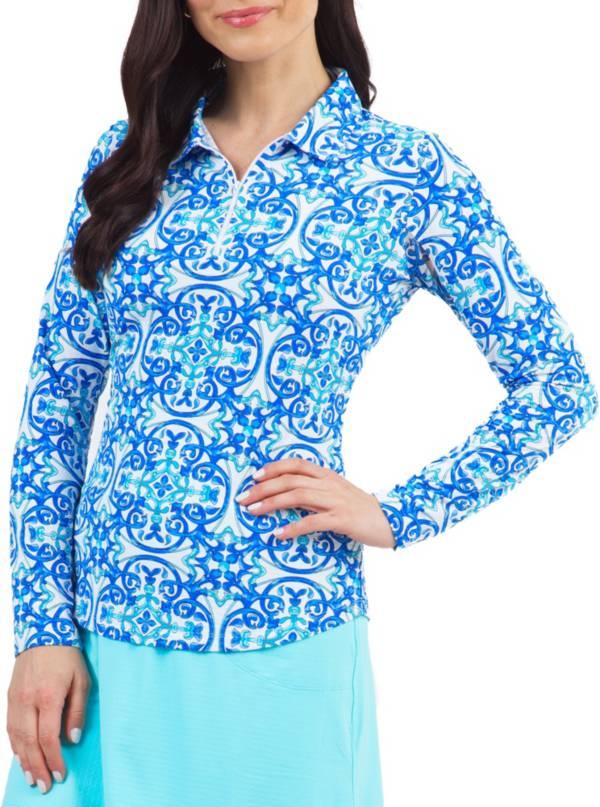IBKUL Women's Printed Long Sleeve Sun Golf Polo product image