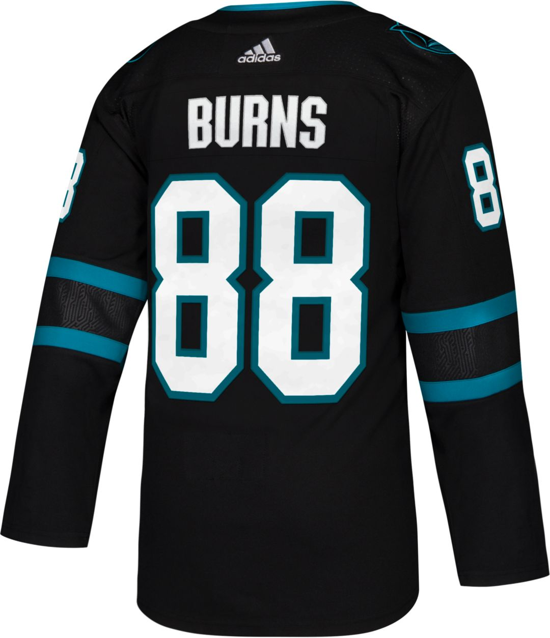 new style 4acb0 95ecb adidas Men's San Jose Sharks Brent Burns #88 Authentic Pro Alternate Jersey