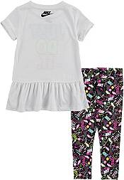 Nike Little Girls' Peplum T-Shirt and Leggings 2-Piece Set product image