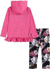 Nike Little Girls' Floral Dri-FIT Hooded Long Sleeve Shirt and Leggings Set product image