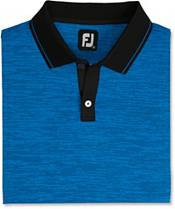 FootJoy Men's Broken Pinstripe Lisle Knit Collar Golf Polo product image