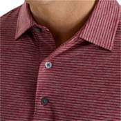 FootJoy Men's Heather Pinstripe Lisle Golf Polo product image