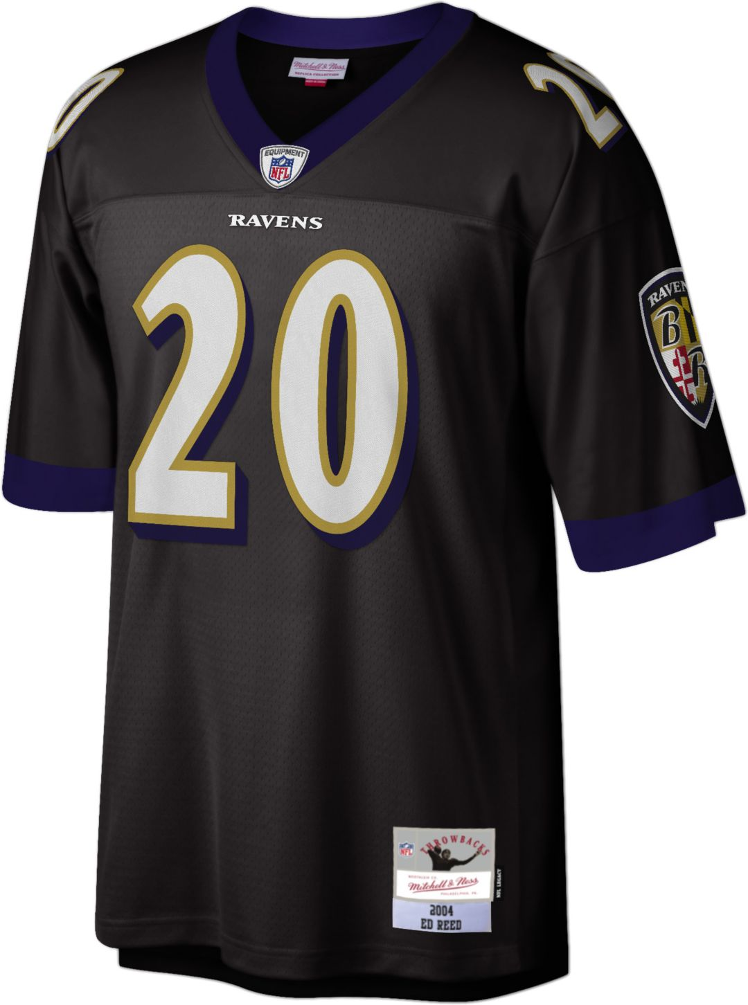 14139af9 Mitchell & Ness Men's 2004 Home Game Jersey Baltimore Ravens Ed Reed #20