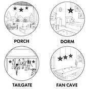 Little Earth Denver Broncos Star Lantern product image