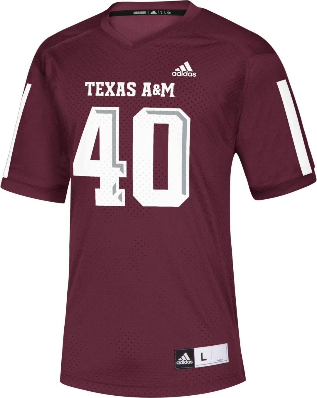 quality design b2731 4d347 adidas Men's Von Miller Texas A&M Aggies Maroon #40 Replica Football Jersey