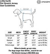 Little Earth Chicago Bears Pet Stretch Jersey product image