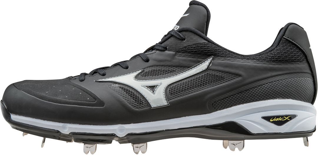 Pick Size! NEW Mens Mizuno Dominant IC Low Metal Baseball Cleats White//Black