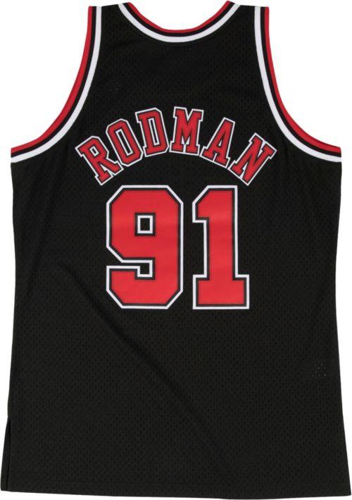 ee48fff4a Mitchell   Ness Men s Chicago Bulls Dennis Rodman  91 Hardwood Classics  Swingman Jersey. noImageFound. Previous. 1. 2. 3