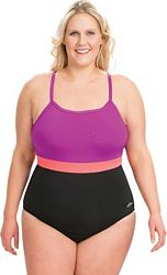 03b1a114ccc Dolfin Women's Aquashape Colorblock X-Back Swimsuit | DICK'S ...