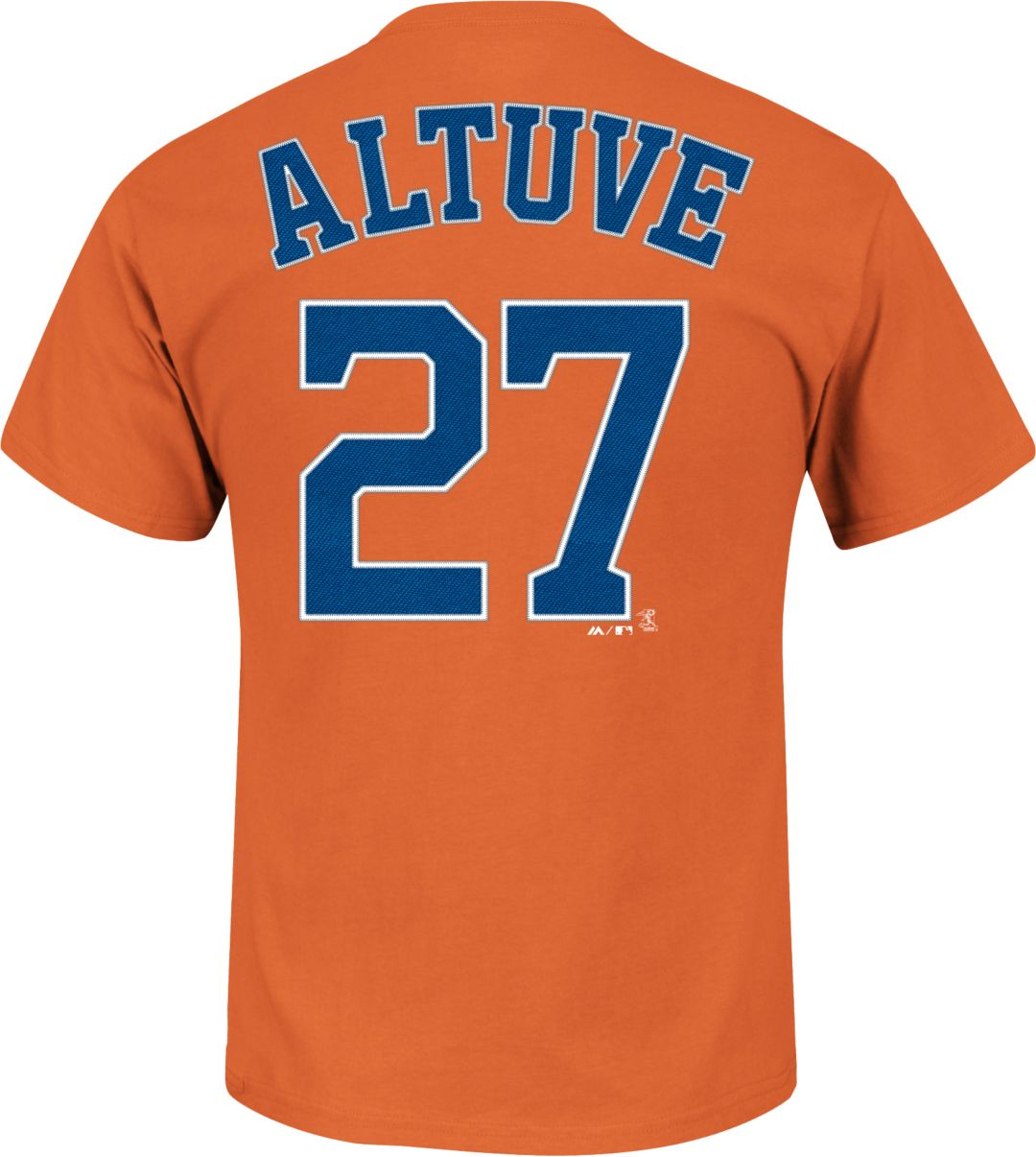 sports shoes 56541 b34ed Majestic Youth Houston Astros Jose Altuve #27 Orange T-Shirt