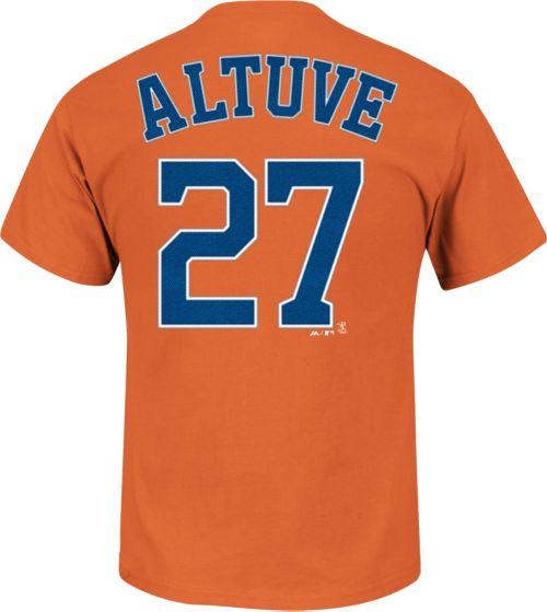 0c51d1efc Majestic Youth Houston Astros Jose Altuve #27 Orange T-Shirt. noImageFound.  Previous. 1. 2. 3