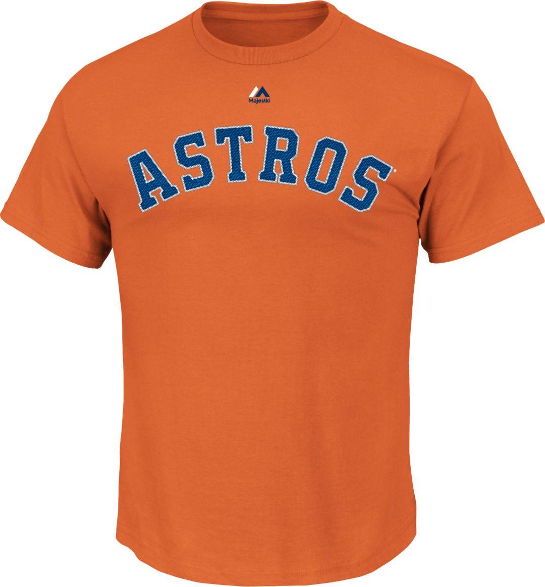 reputable site 1eb1f 83ebb Majestic Youth Houston Astros Carlos Correa #1 Orange T-Shirt