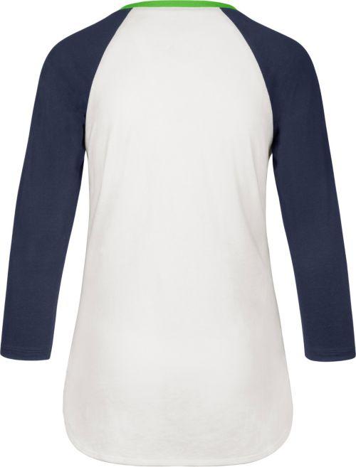 7ab88cc00 47 Women s Seattle Seahawks Splitter White Raglan Shirt
