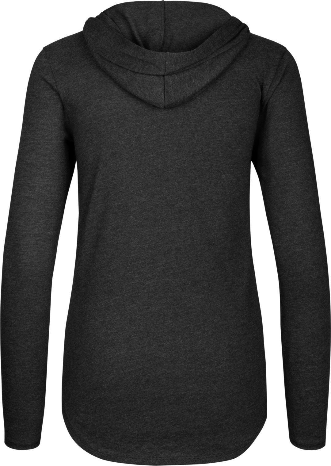 69131b1c '47 Women's Atlanta Falcons Club Black Hooded Long Sleeve Shirt