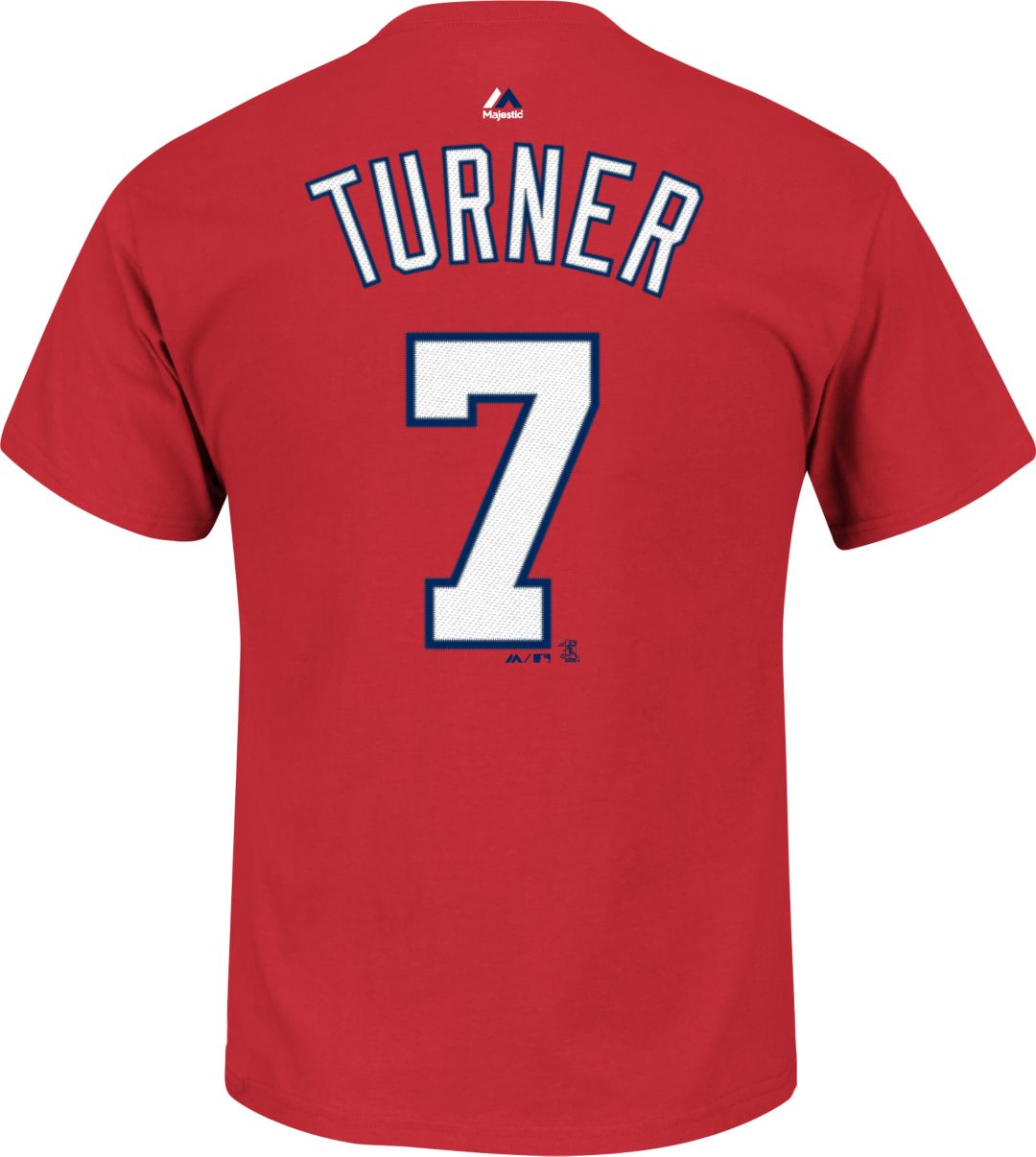 separation shoes 2bfec e4977 Majestic Youth Washington Nationals Trea Turner #7 Red T-Shirt