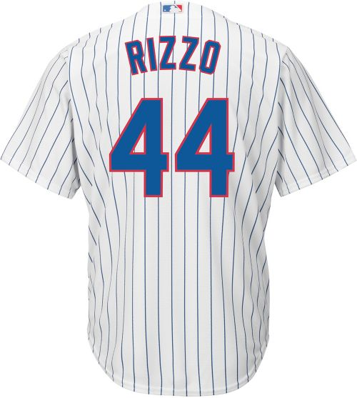 af4fe9bb0b1 Youth Replica Chicago Cubs Anthony Rizzo  44 Home White Jersey ...