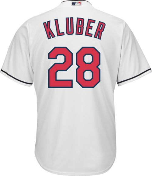 a2dbfd80ea4 Youth Replica Cleveland Indians Corey Kluber #28 Home White Jersey.  noImageFound. Previous. 1. 2. 3