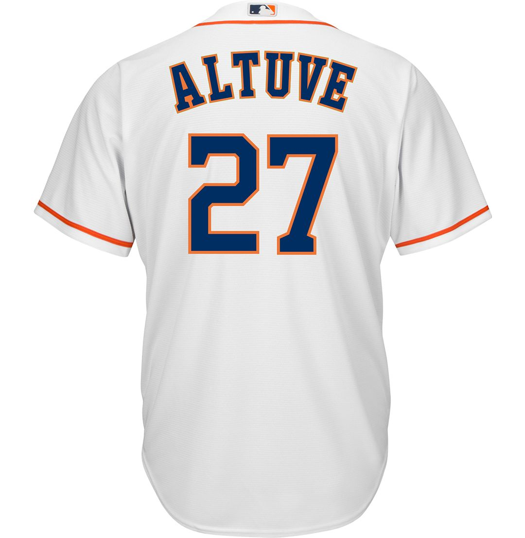 sports shoes a3278 3c377 Youth Replica Houston Astros Jose Altuve #27 Home White Jersey