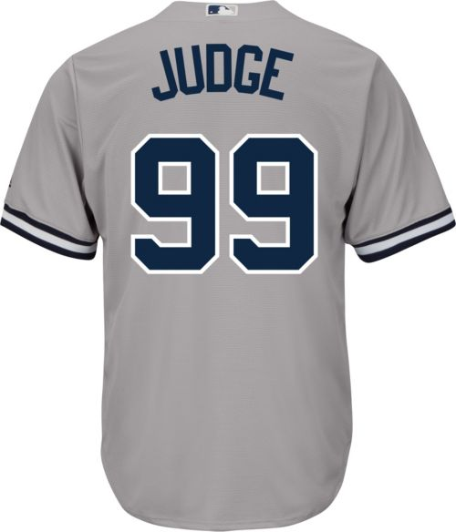 cc9cc9d8303 Majestic Youth Replica New York Yankees Aaron Judge  99 Cool Base Road Grey  Jersey. noImageFound. Previous. 1. 2. 3