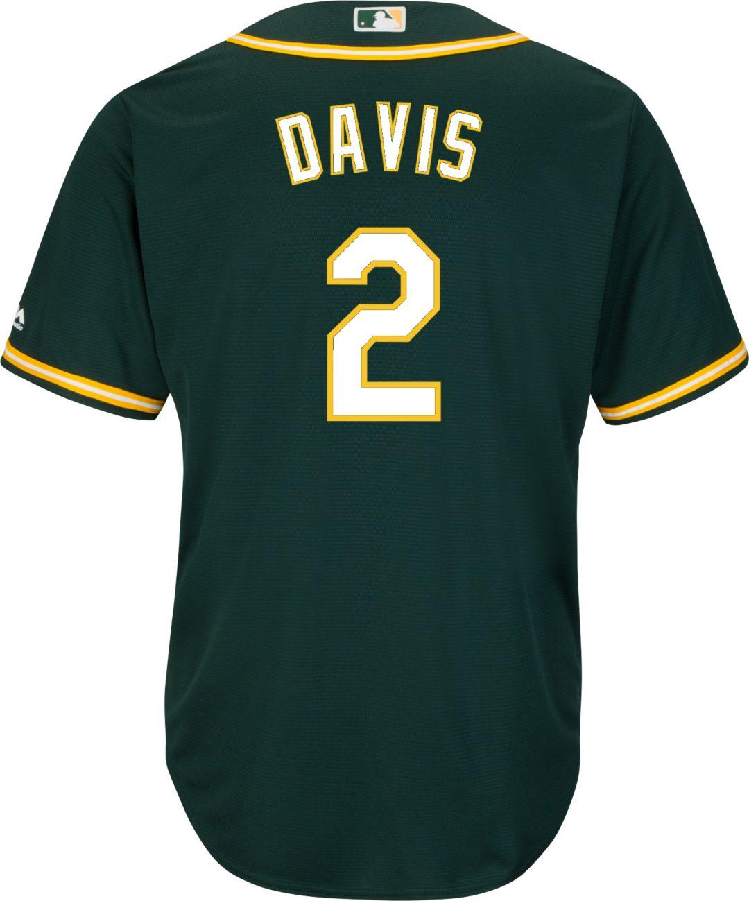 6fdfad9a Majestic Youth Replica Oakland Athletics Khris Davis #2 Cool Base ...