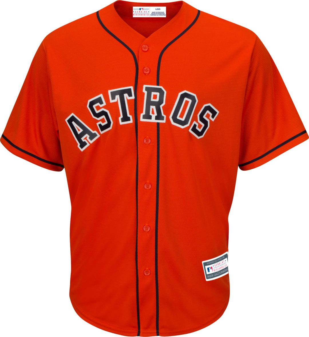 sale retailer 64dd0 42fd6 Youth Replica Houston Astros Jose Altuve #27 Alternate Orange Jersey