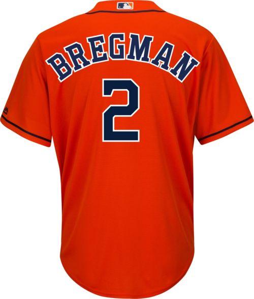 1d04ce574 Majestic Youth Replica Houston Astros Alex Bregman  2 Cool Base Alternate  Orange Jersey. noImageFound. Previous. 1. 2. 3