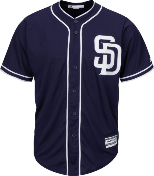 e7b2fc70b Majestic Youth Replica San Diego Padres Wil Myers #4 Cool Base Alternate  Navy Jersey