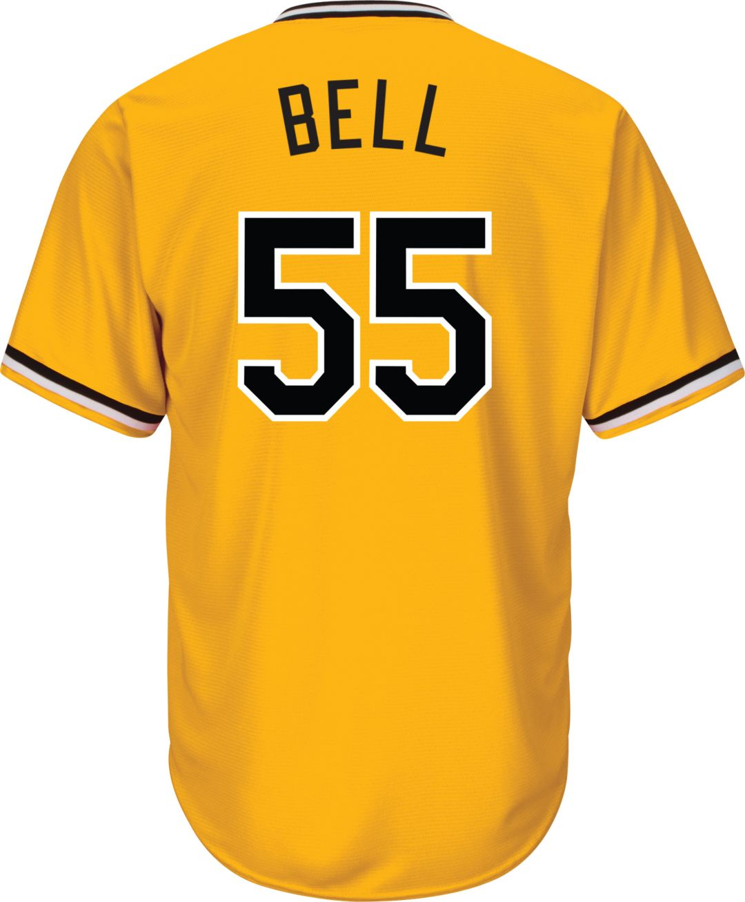 best service 665f1 00ae2 Majestic Youth Replica Pittsburgh Pirates Josh Bell #55 Cool Base Alternate  Gold Jersey