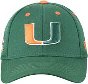 Top of the World Men's Miami Hurricanes Green Triple Threat Adjustable Hat product image