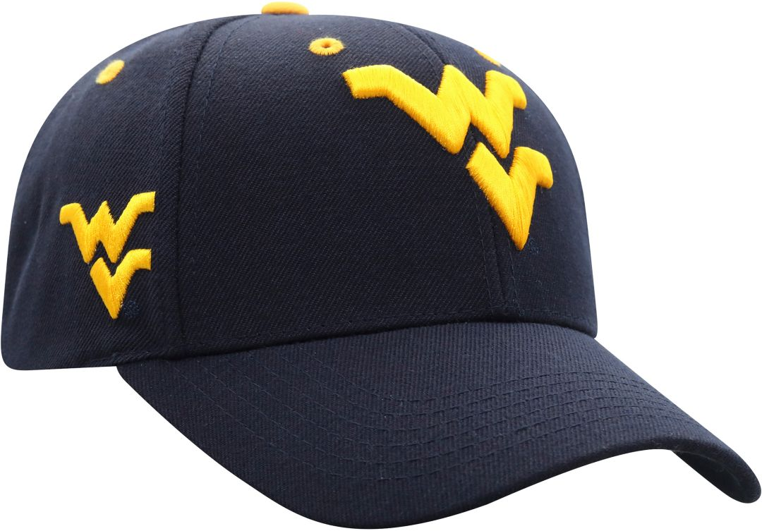 low priced e14a3 7e4df Top of the World Men s West Virginia Mountaineers Blue Triple Threat Adjustable  Hat