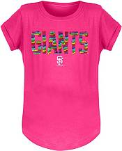 New Era Youth Girls' San Francisco Giants Pink Flip Sequins T-Shirt product image