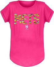New Era Youth Girls' New York Mets Pink Flip Sequins T-Shirt product image