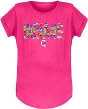 New Era Youth Girls' Cleveland Indians Pink Flip Sequins T-Shirt product image