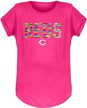 New Era Youth Girls' Cincinnati Reds Pink Flip Sequins T-Shirt product image