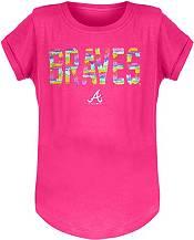 New Era Youth Girls' Atlanta Braves Pink Flip Sequins T-Shirt product image
