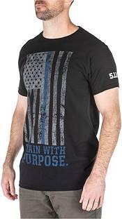 5.11 Tactical Men's Dusty Blue Line T-Shirt product image