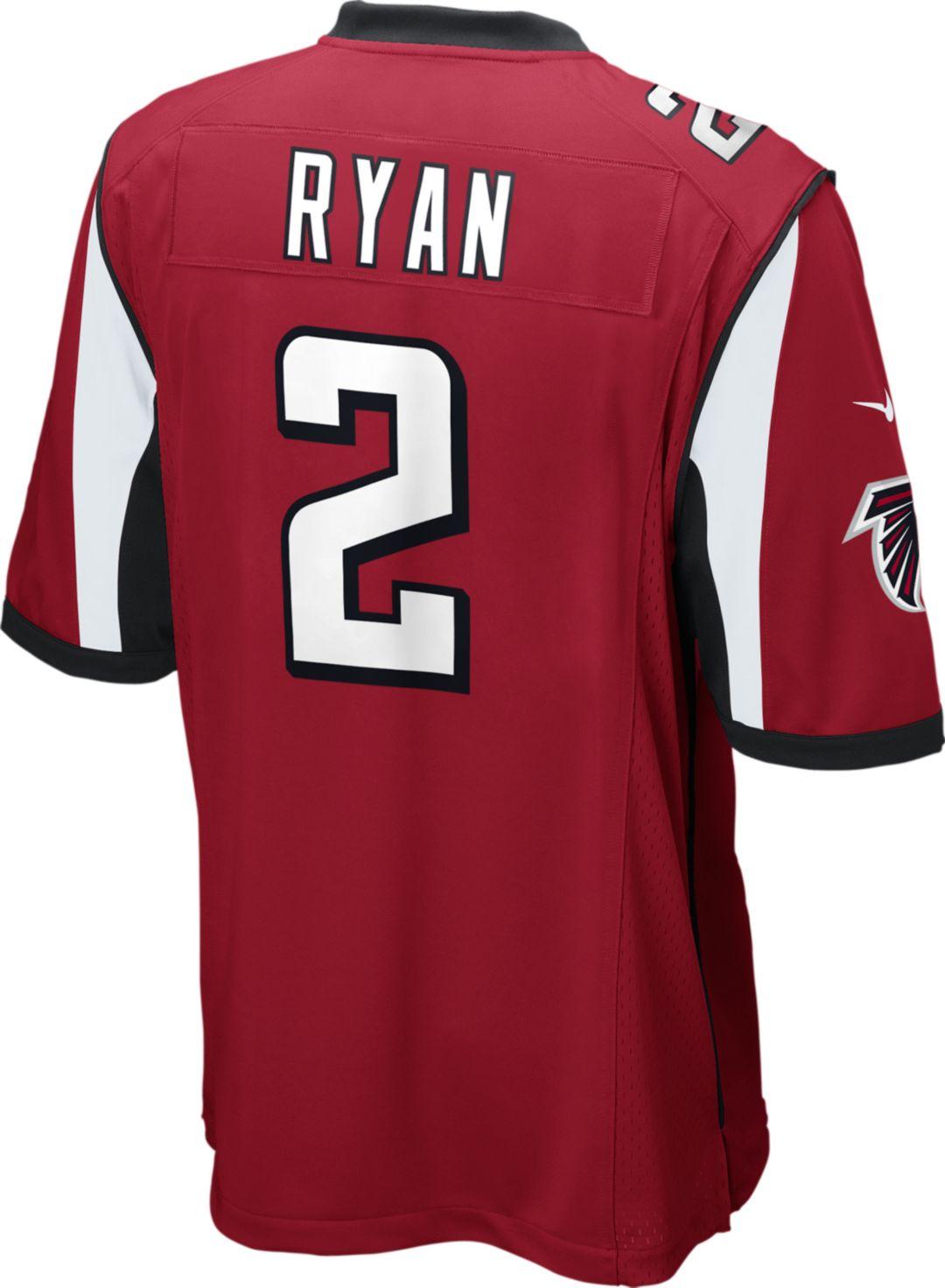 Hot Nike Men's Home Game Jersey Atlanta Falcons Matt Ryan #2   DICK'S