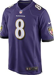 super popular 9fc18 a2149 Lamar Jackson #8 Nike Men's Baltimore Ravens Home Game Jersey