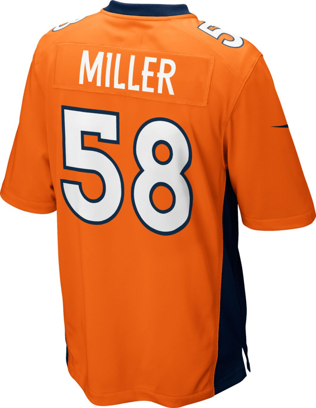 sports shoes ae80a 35b51 Nike Men's Home Game Jersey Denver Broncos Von Miller #58
