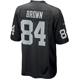 2dd82820690d Antonio Brown #84 Nike Men's Oakland Raiders Home Game Jersey ...