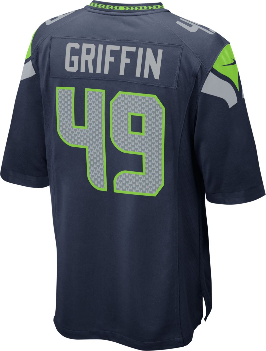 New Shaquem Griffin #49 Nike Men's Seattle Seahawks Home Game Jersey  hot sale