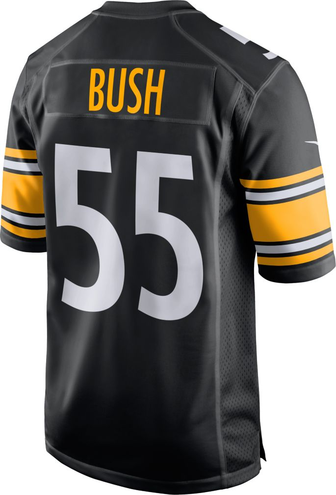 size 40 fed4a 241d2 Devin Bush #55 Nike Men's Pittsburgh Steelers Home Game Jersey