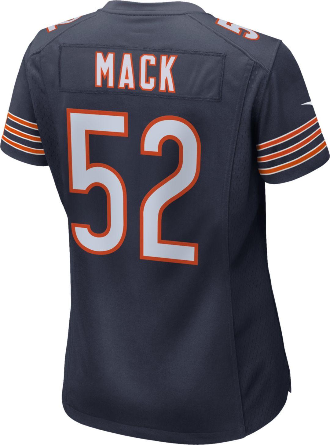 wholesale dealer ea895 76061 Nike Women's Home Game Jersey Chicago Bears Khalil Mack #52